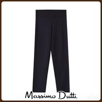 MassimoDutti♪BLACK KNIT JOGGING TROUSERS WITH SIDE DETAIL