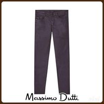 MassimoDutti♪MID-RISE SKINNY FIT RUBBERISED TROUSERS