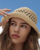 Urban Outfitters(アーバンアウトフィッターズ) ストローハット ストローハット UO Emma Straw Bucket Hat