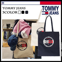 ★TOMMY JEAN★トートバッグ コットン ロゴ エコバッグ 3色