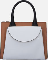 【MARNI】Law handbag in smooth and saffiano leather
