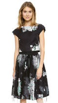 最終セール☆Milly☆Monica Floral-Print Tulle Skirt☆US0