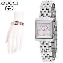 特別価格!GUCCI  Diamond Accent G Frame Bracelet Watch