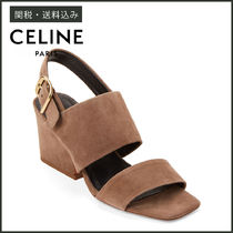 【CELINE】 TAUPE SUEDE SLINGBACK SANDALS スエード サンダル