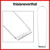 ★韓国の人気★ 【thisisneverthat】★Hsp Necklace★シルバー★