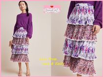 最安値保証*関税送料込【Anthro】Carnival Tiered Midi Skirt