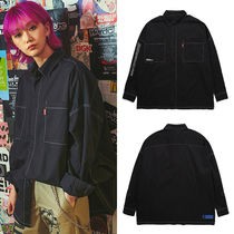 BURIED ALIVE(べリードアライブ) ブラウス・シャツ 韓国 正規品 [BURIEDALIVE] BA FULL OVER SIZE SHIRTS BLACK