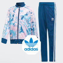 adidas☆3−8yrs☆KIDS ORIGINALS MARBLE SST TRACK  SUIT☆