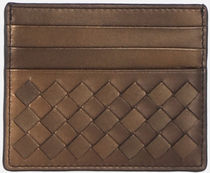 【BOTTEGA】credit card holder in Intrecciato