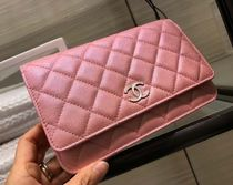 Chanel新作♡パールピンクのChain Wallet♡