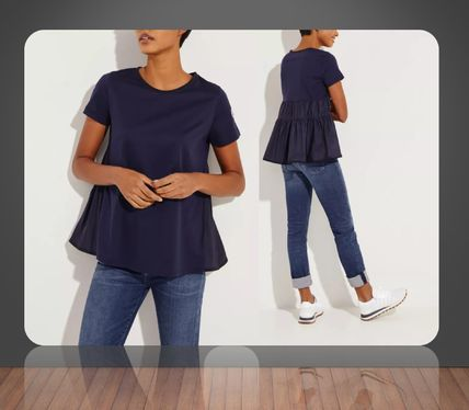 Moncler** Cotton Shirt with back detail**NAVY
