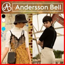 ANDERSSON BELL(アンダースンベル) ニット・セーター 【ANDERSSON BELL】RIBBED SHORT SLEEVE TURTLENECK SWEATER☆