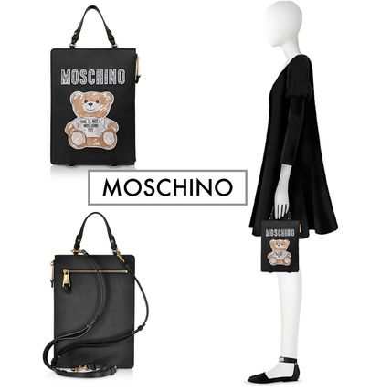 完売秒読み☆MOSCHINO☆teddy bear Brushstroke Clutch☆超人気