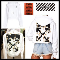 【OFFWHITE】19SS/バッグロゴ/コットンフラワー/HOODIE/WHITE