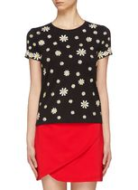 Alice+Olivia  RYLYN' DAISY EMBROIDERED T-SHIRT