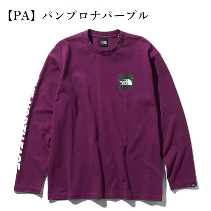 THE NORTH FACE Tシャツ・カットソー 【THE NORTH FACE】ロングスリーブスクエアロゴスリーブティー(9)