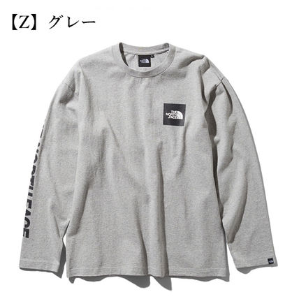 THE NORTH FACE Tシャツ・カットソー 【THE NORTH FACE】ロングスリーブスクエアロゴスリーブティー(10)