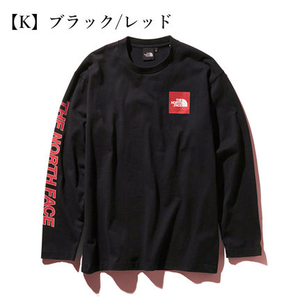 THE NORTH FACE Tシャツ・カットソー 【THE NORTH FACE】ロングスリーブスクエアロゴスリーブティー(12)