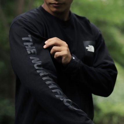 THE NORTH FACE Tシャツ・カットソー 【THE NORTH FACE】ロングスリーブスクエアロゴスリーブティー(8)