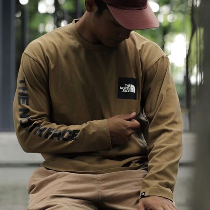 THE NORTH FACE Tシャツ・カットソー 【THE NORTH FACE】ロングスリーブスクエアロゴスリーブティー(5)