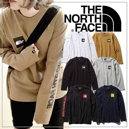 THE NORTH FACE Tシャツ・カットソー 【THE NORTH FACE】ロングスリーブスクエアロゴスリーブティー