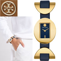 特価!Tory Burch Jacques Blue Leather Strap Watch 28x33mm