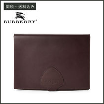 【BURBERRY】 Leather Document Case レザー クラッチバッグ