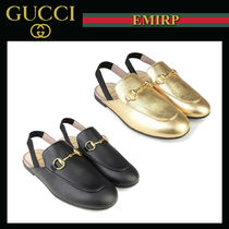 GUCCI☆PRINCETOWN GirlsバックストラップSLIPPER