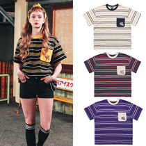 ★WV PROJECT★Tシャツ Danny striped short-sleeved polo shirt