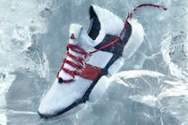 =MONCLER= THE BUBBLE SNEAKERS スニーカー 白ベース×赤×青