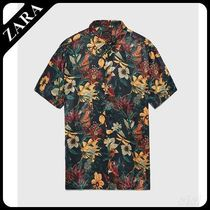 ZARA(ザラ) シャツ ☆ Men's ZARA☆ FLORAL PRINT SHIRT WITH A SATIN FINISH