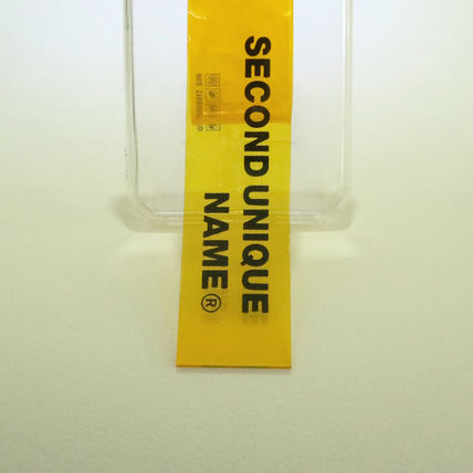 SECOND UNIQUE NAME スマホケース・テックアクセサリー 【NEW】「SECOND UNIQUE NAME」 PVC CLEAR yellow 正規品(5)
