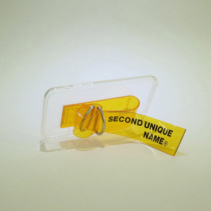 SECOND UNIQUE NAME スマホケース・テックアクセサリー 【NEW】「SECOND UNIQUE NAME」 PVC CLEAR yellow 正規品(8)