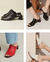 Acne(アクネ) パンプス [Acne] Bernelle leather sandals レザーミュール 3色