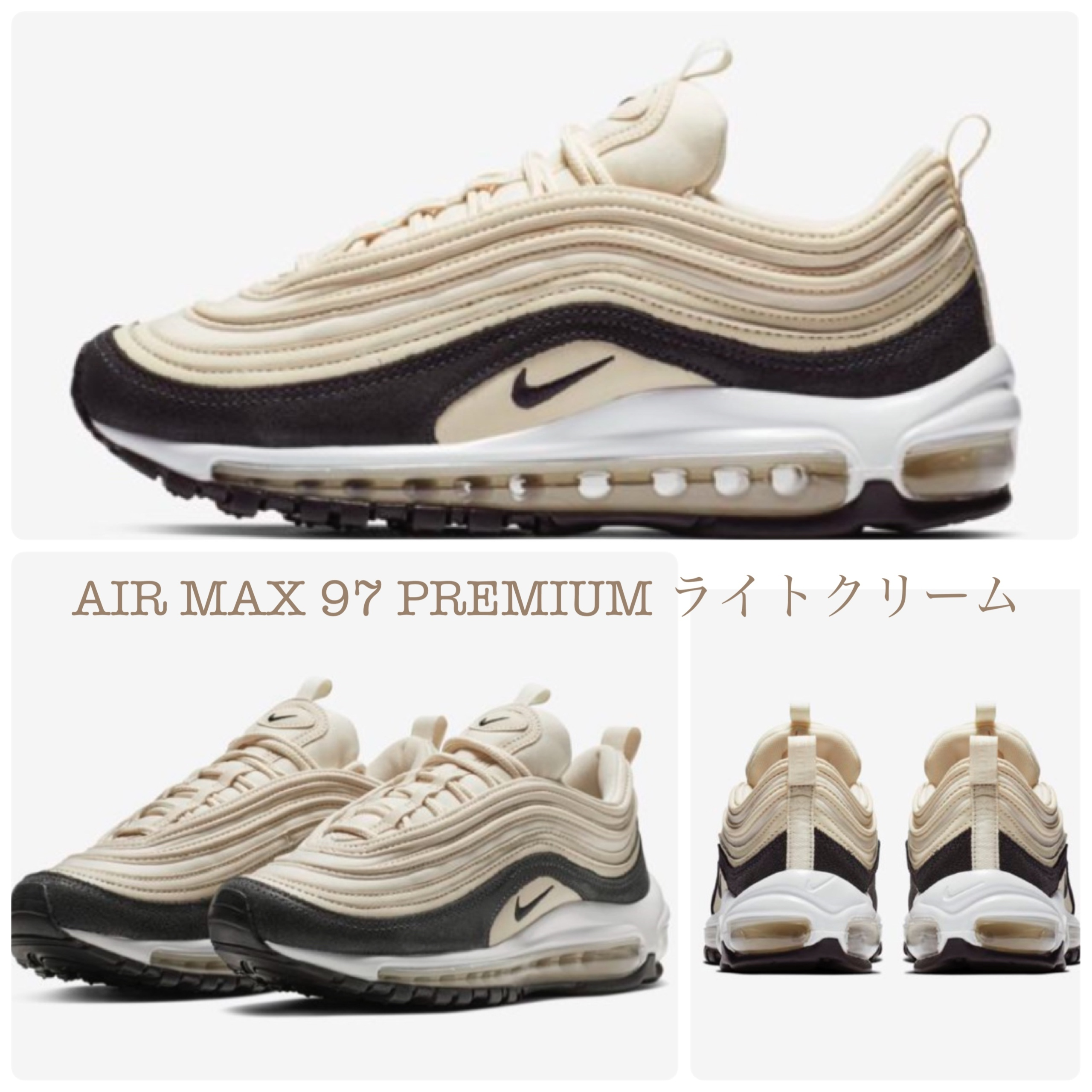 best service 02a25 5a2fc Nike AIR MAX 97 2018-19AW Plain Leather Low-Top Sneakers (917646-202)