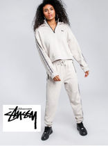 [STUSSY] ステューシーCourt Zip-Up Hoodie in White Sand★