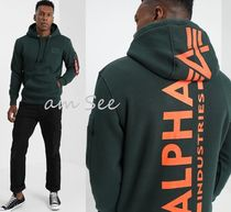 【Alpha Industries】BACK PRINTパーカー グリーン