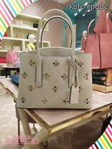 白が素敵★kate spade★ MARGAUX SPADE STUD MEDIUM SATCHEL