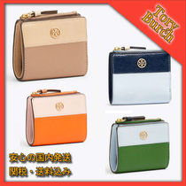 関税込み TORY BURCH ☆ ROBINSON COLOR-BLOCK MINI WALLET 財布