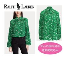 【国内発送】Ralph Lauren Georgette Tie-Neck Top  セール!