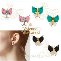 19SS新作★vivienne westwood★BUTTERFLYロゴピアス★4色より