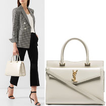 19SS WSL1429 UPTOWN MEDIUM TOTE IN SHINY SMOOTH LEATHER