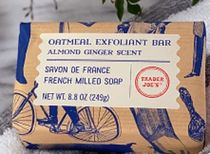 【Trader Joe's】Almond Ginger Scent Oatmeal Exfoliant Bar2PC