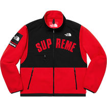 Supreme × The North Face Arc Logo Fleece Jacket Red 19SS
