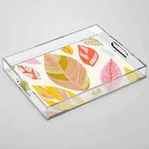 Timberlee modern autumn leaves Acrylic Tray