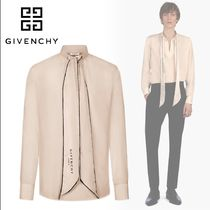 GIVENCHY/19SS!アスコットネクタイ付き チュニジア襟シャツ