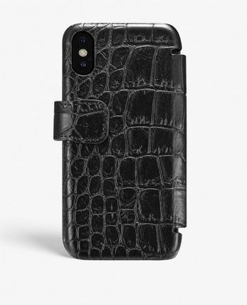 THE CASE FACTORY スマホケース・テックアクセサリー THE CASE FACTORY★IPHONE XR CARD CASE CROCODILE BLACK(2)