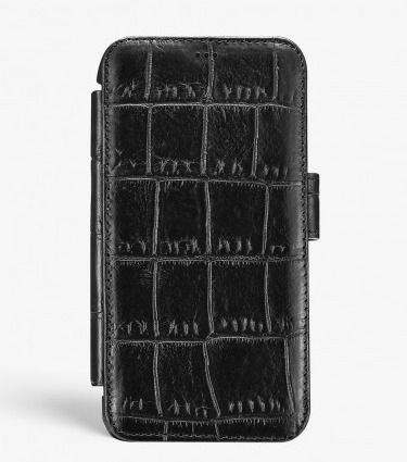 THE CASE FACTORY スマホケース・テックアクセサリー THE CASE FACTORY★IPHONE XR CARD CASE CROCODILE BLACK(3)