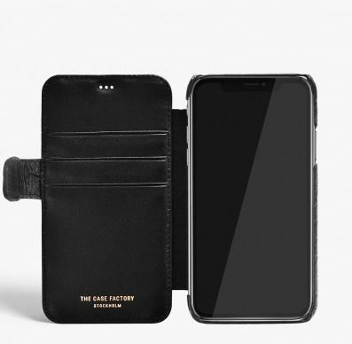 THE CASE FACTORY スマホケース・テックアクセサリー THE CASE FACTORY★IPHONE XR CARD CASE CROCODILE BLACK(4)
