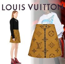 19ss Louis Vuitton ジャイアント・モノグラムプリントスカート